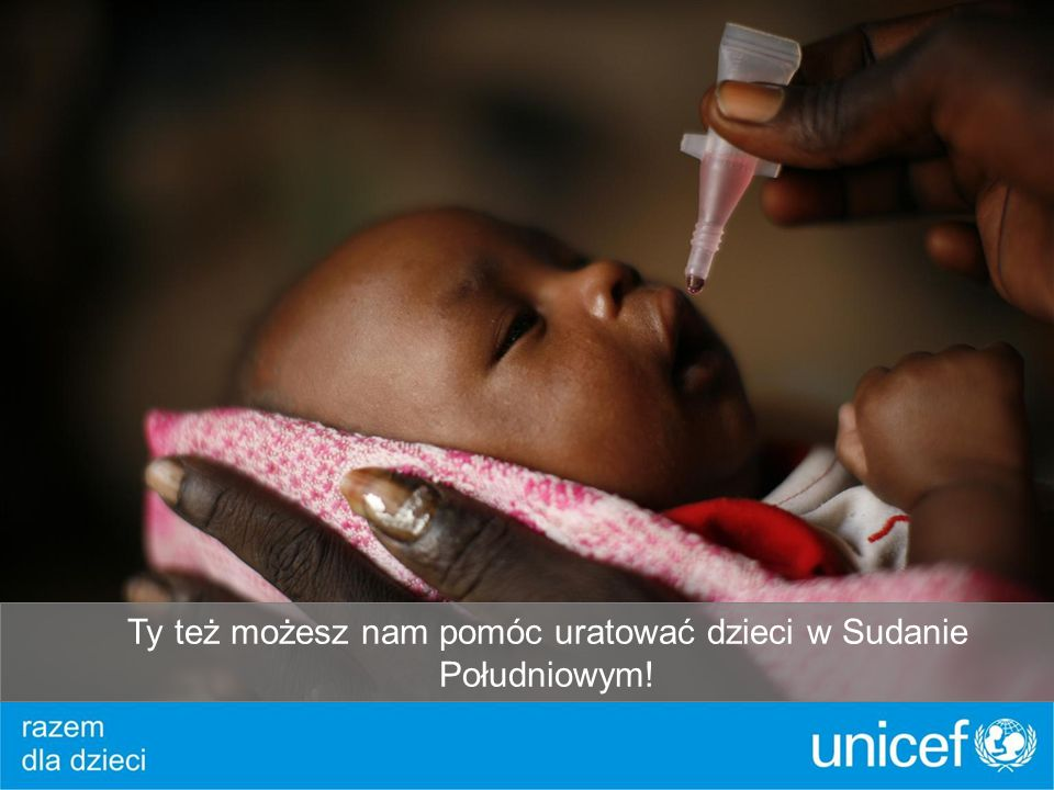 Ty też możesz nam pomóc uratować dzieci w Sudanie Południowym!