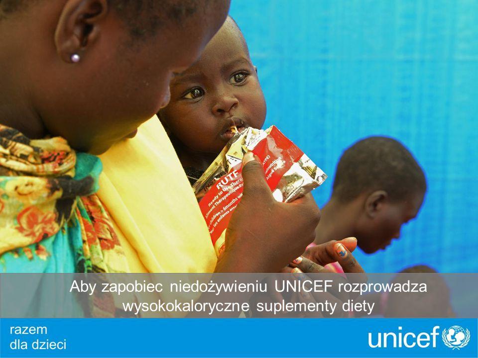 Aby zapobiec niedożywieniu UNICEF rozprowadza wysokokaloryczne suplementy diety