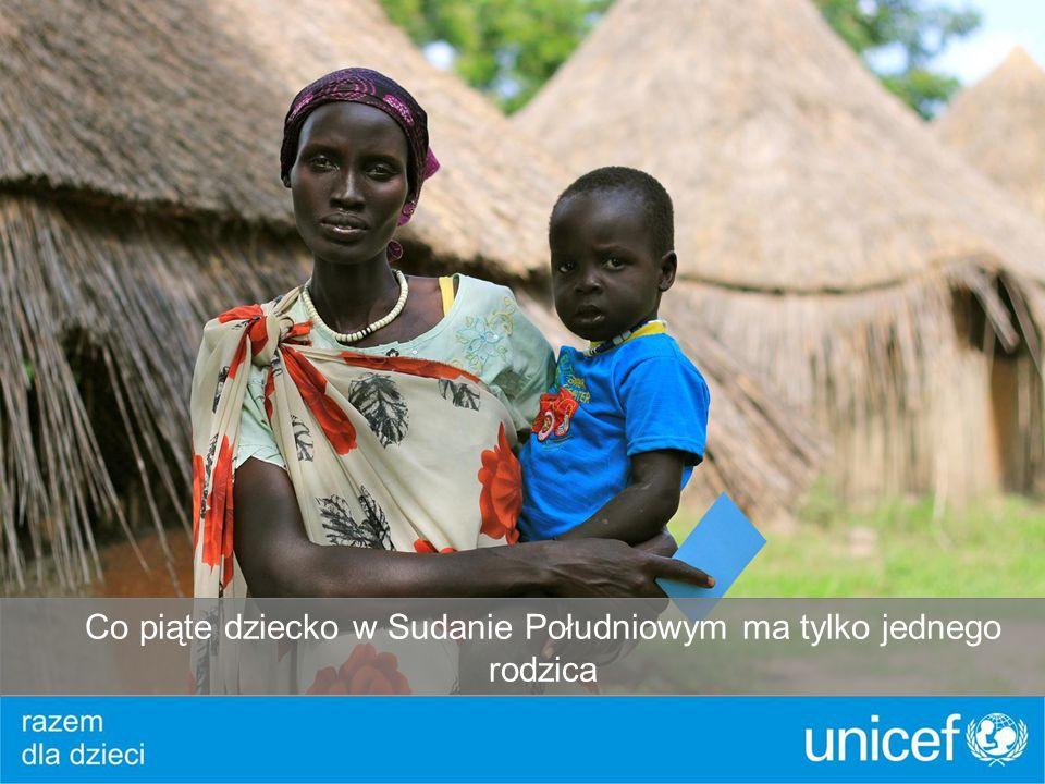 Co piąte dziecko w Sudanie Południowym ma tylko jednego rodzica