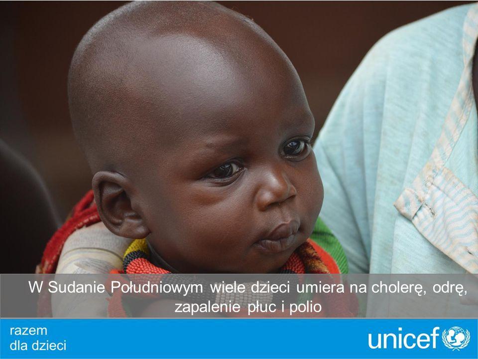 W Sudanie Południowym wiele dzieci umiera na cholerę, odrę, zapalenie płuc i polio