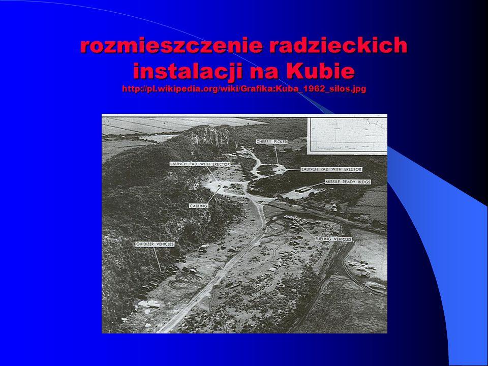 rozmieszczenie radzieckich instalacji na Kubie http://pl.wikipedia.org/wiki/Grafika:Kuba_1962_silos.jpg
