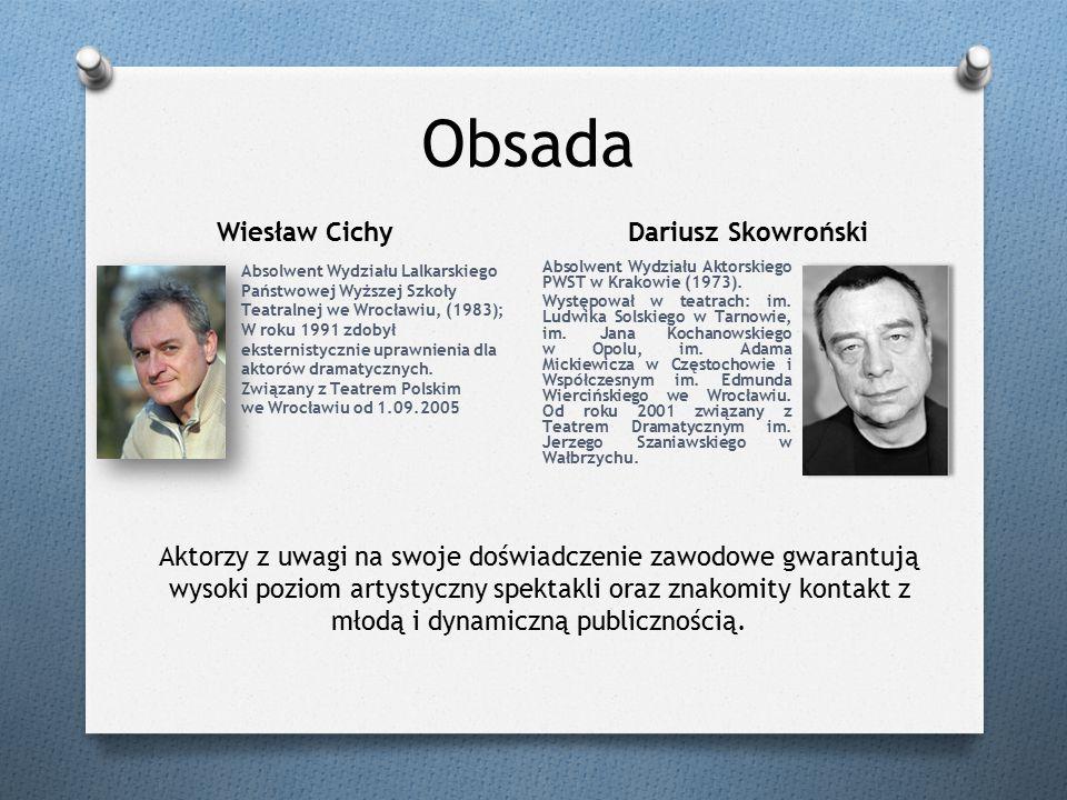 Obsada Absolwent Wydziału Lalkarskiego Państwowej Wyższej Szkoły Teatralnej we Wrocławiu, (1983); W roku 1991 zdobył eksternistycznie uprawnienia dla aktorów dramatycznych.