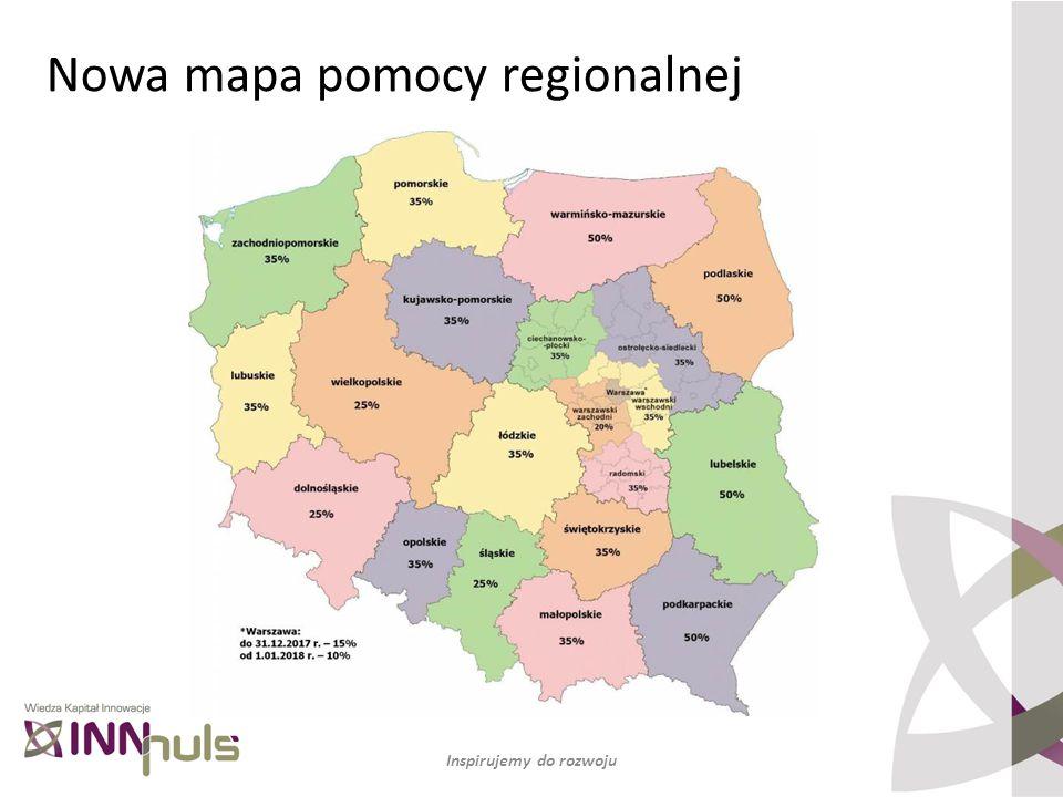 Nowa mapa pomocy regionalnej Inspirujemy do rozwoju