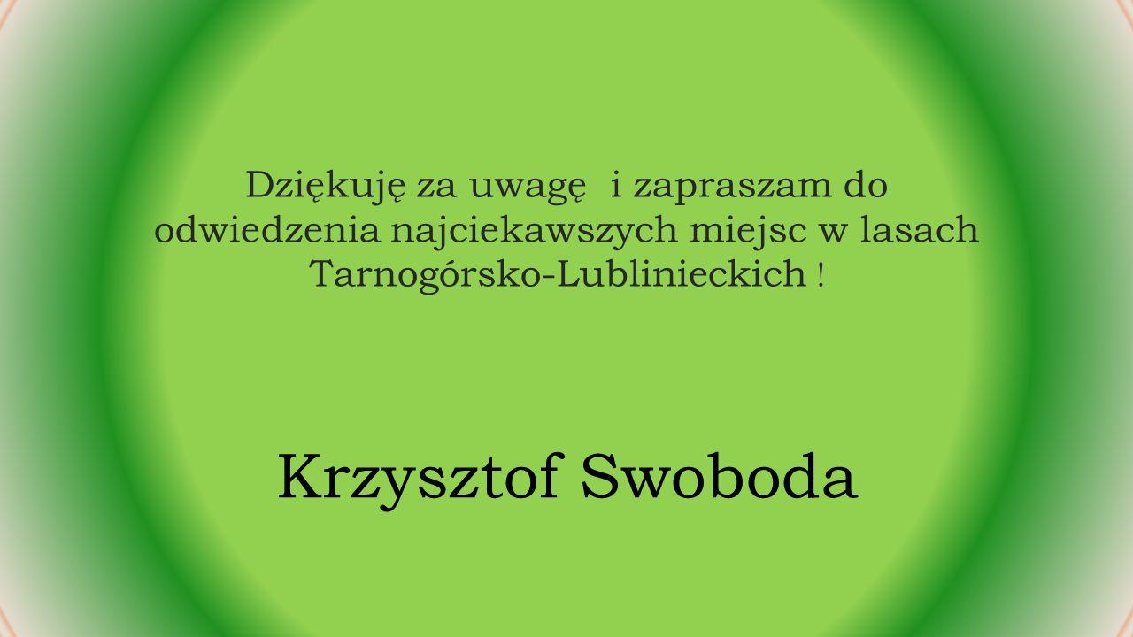 Dziękuję za uwagę i zapraszam do odwiedzenia najciekawszych miejsc w lasach Tarnogórsko-Lublinieckich .