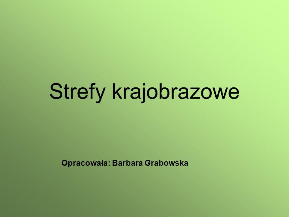 Strefy krajobrazowe Opracowała: Barbara Grabowska
