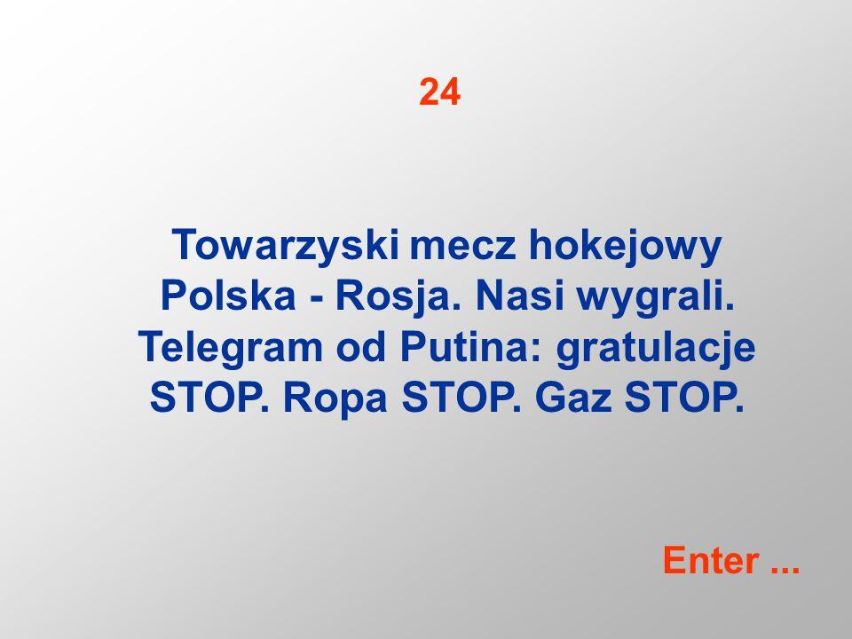 Towarzyski mecz hokejowy Polska - Rosja. Nasi wygrali.