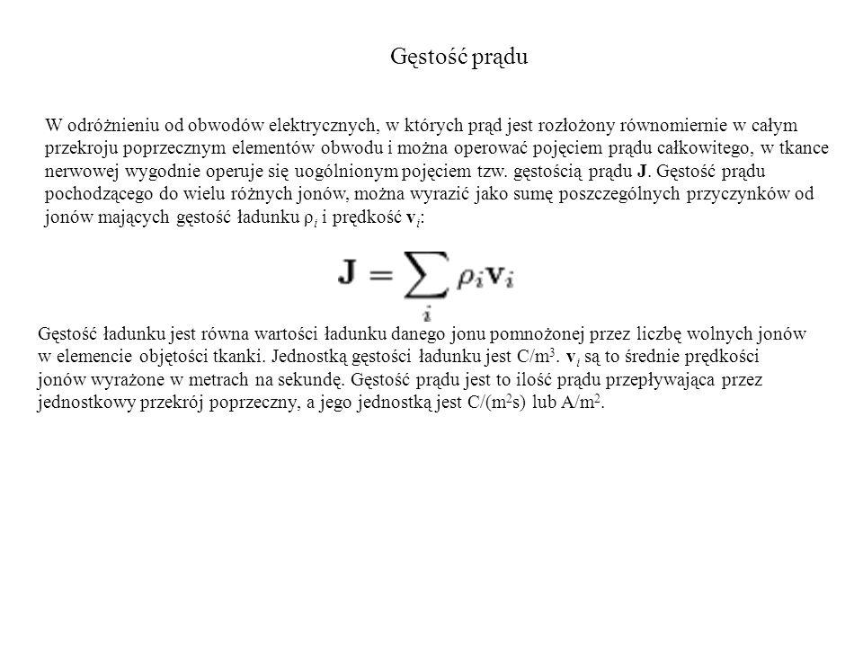 Gęstość prądu W odróżnieniu od obwodów elektrycznych, w których prąd jest rozłożony równomiernie w całym przekroju poprzecznym elementów obwodu i możn