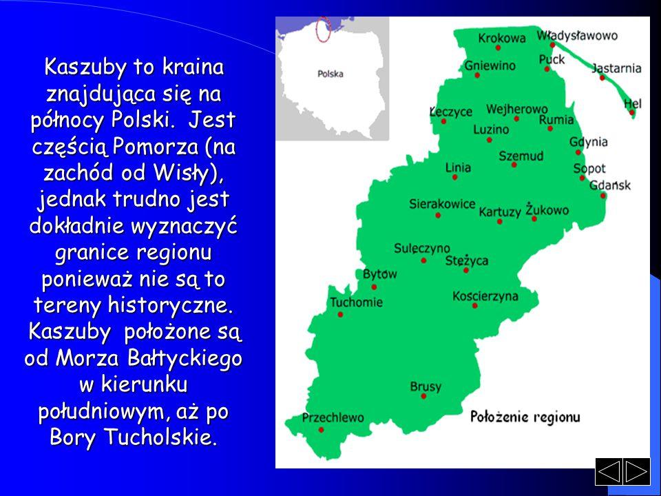 Kaszuby to kraina znajdująca się na północy Polski. Jest częścią Pomorza (na zachód od Wisły), jednak trudno jest dokładnie wyznaczyć granice regionu