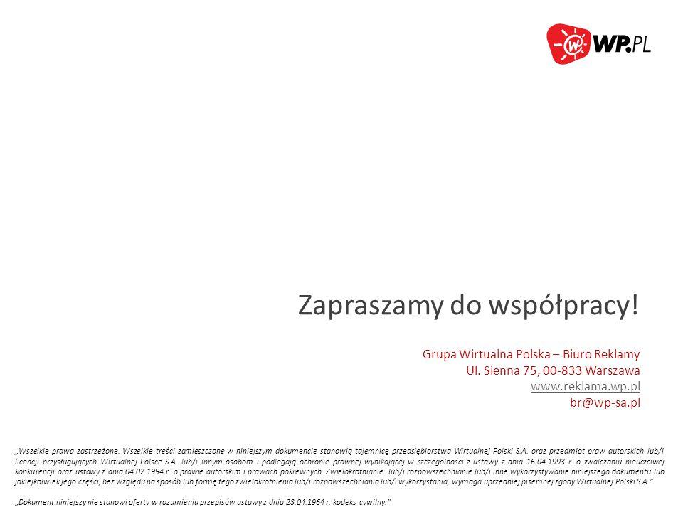"""""""Wszelkie prawa zastrzeżone. Wszelkie treści zamieszczone w niniejszym dokumencie stanowią tajemnicę przedsiębiorstwa Wirtualnej Polski S.A. oraz prze"""