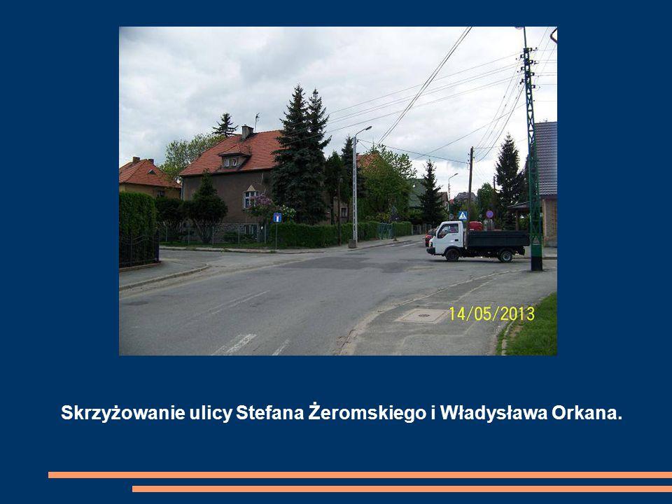 Skrzyżowanie ulicy Stefana Żeromskiego i Władysława Orkana.