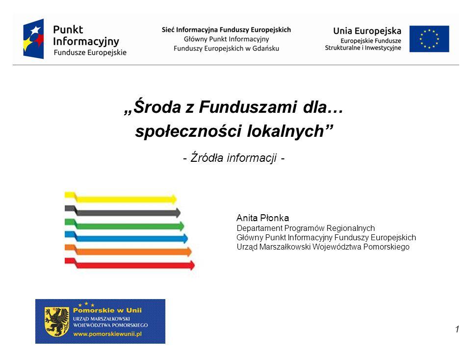 22 SIEĆ INFORMACYJNA FUNDUSZY EUROPEJSKICH Za funkcjonowanie Sieci Punktów Informacyjnych Funduszy Europejskich odpowiada Ministerstwo Infrastruktury i Rozwoju.