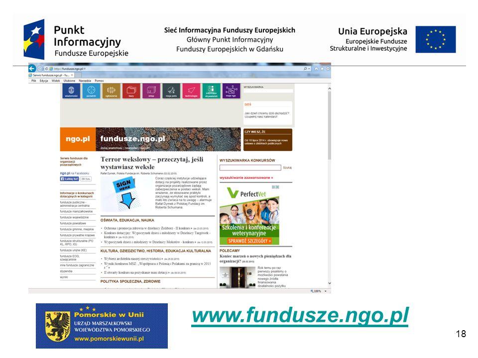 18 www.fundusze.ngo.pl