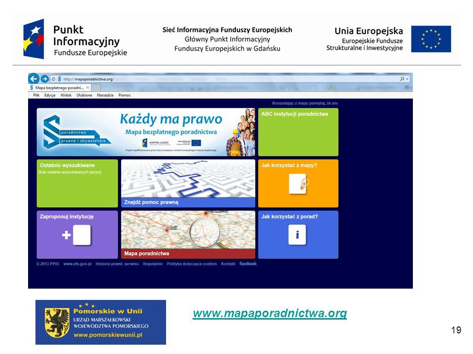19 www.mapaporadnictwa.org