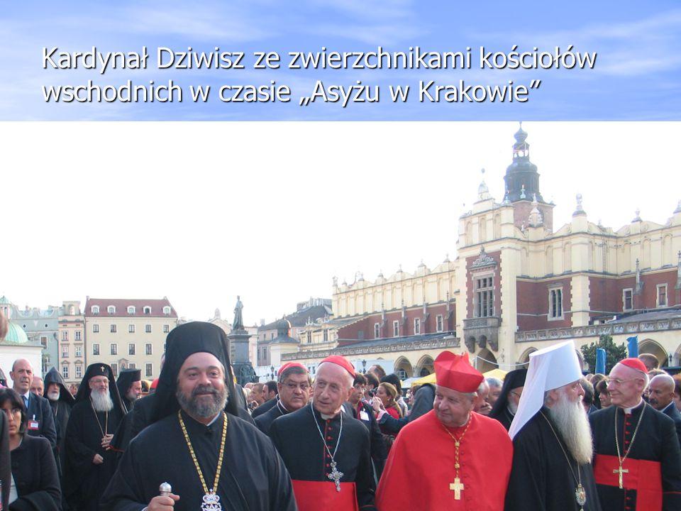 """Kardynał Dziwisz ze zwierzchnikami kościołów wschodnich w czasie """"Asyżu w Krakowie"""""""