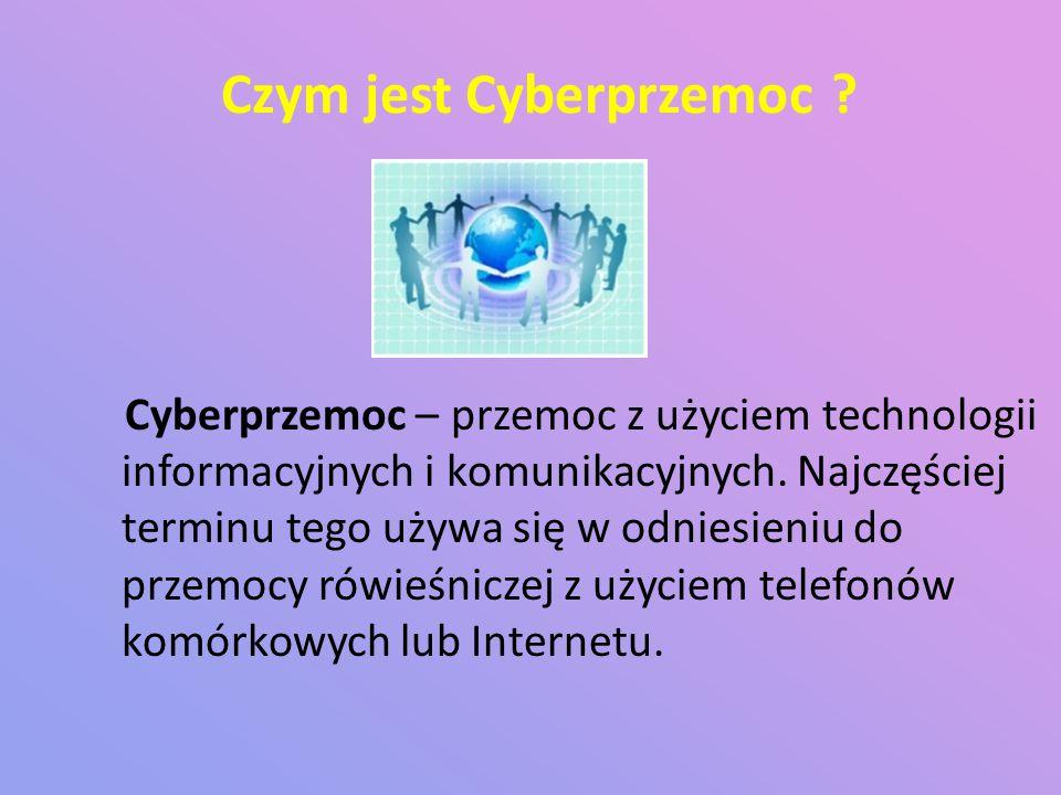 Czym jest Cyberprzemoc .