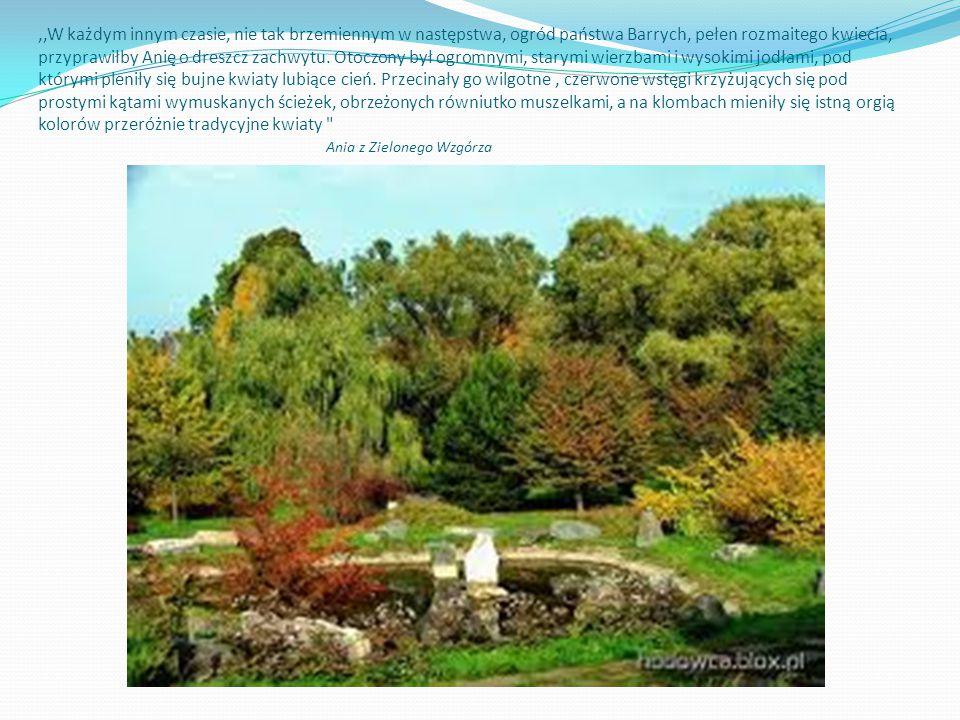 ,,W każdym innym czasie, nie tak brzemiennym w następstwa, ogród państwa Barrych, pełen rozmaitego kwiecia, przyprawiłby Anię o dreszcz zachwytu. Otoc