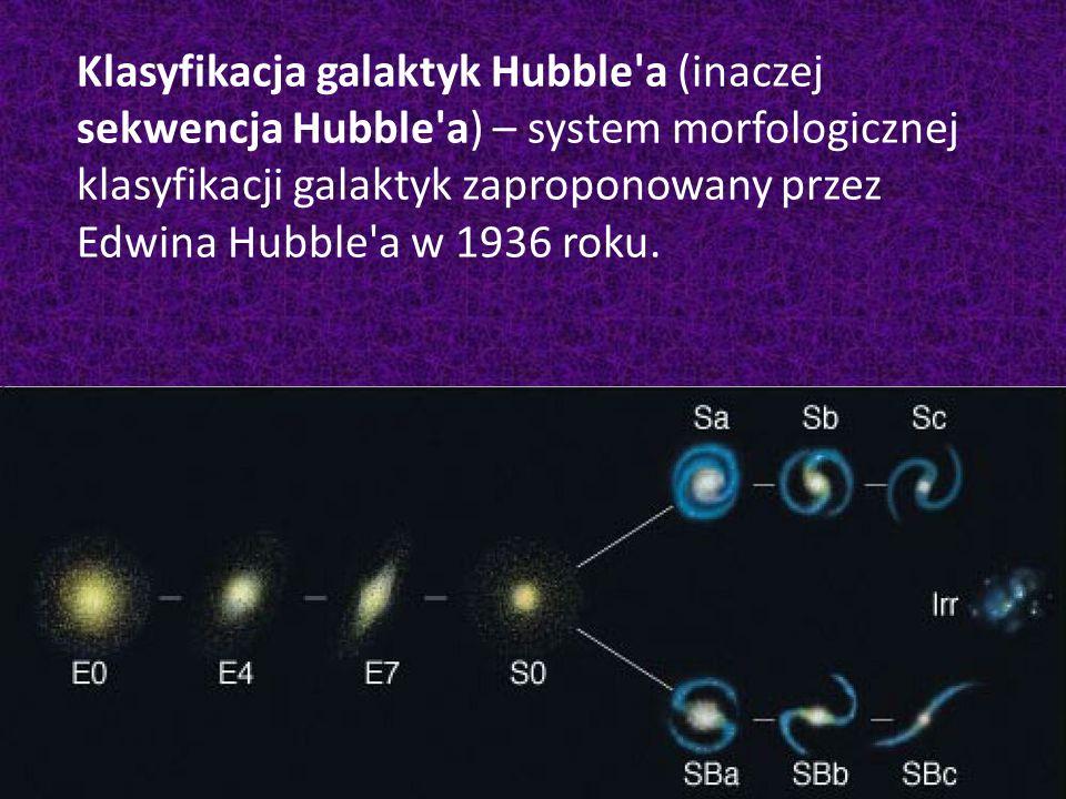 Klasyfikacja galaktyk Hubble'a (inaczej sekwencja Hubble'a) – system morfologicznej klasyfikacji galaktyk zaproponowany przez Edwina Hubble'a w 1936 r