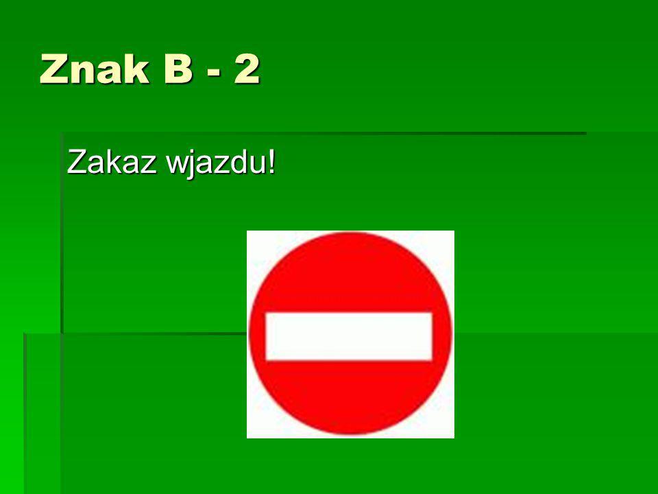 Znak – B20 STOP – Bezwzględne zatrzymanie się!