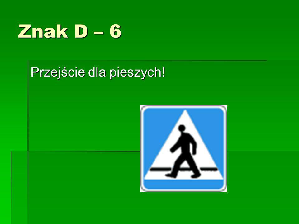 Znak D – 3 Droga jednokierunkowa!