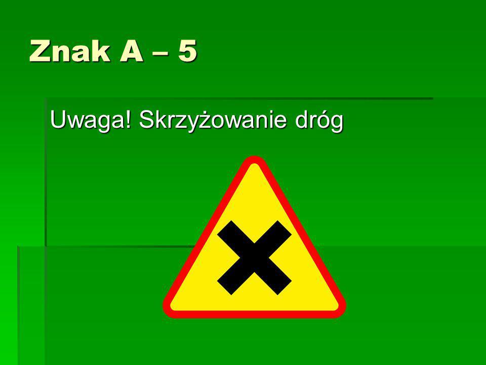 Znaki drogowe Niektóre znaki ostrzegają przed miejscami niebezpiecznymi na drodze. Są to ZNAKI OSTRZEGAWCZE.