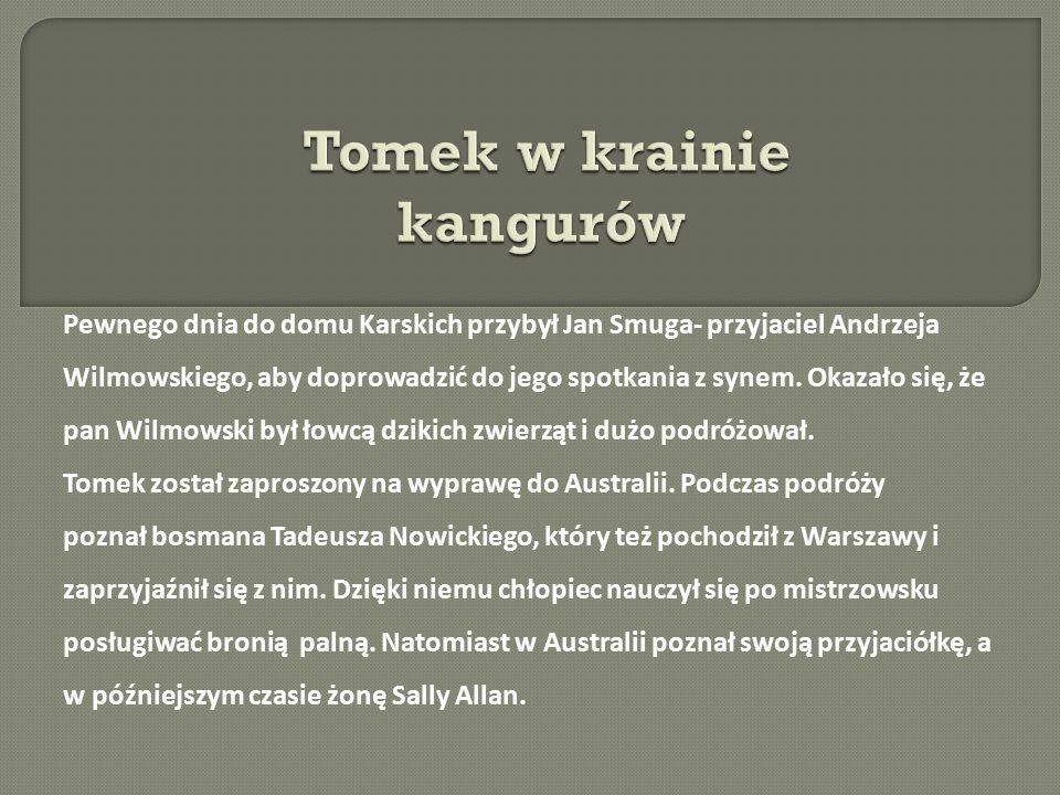 Pewnego dnia do domu Karskich przybył Jan Smuga- przyjaciel Andrzeja Wilmowskiego, aby doprowadzić do jego spotkania z synem. Okazało się, że pan Wilm