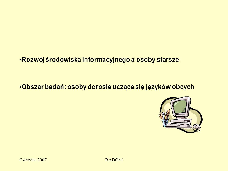 Czerwiec 2007RADOM Instytut Technologii Eksploatacji - PIB INSTITUTE FOR SUSTAINABLE TECHNOLOGIES -