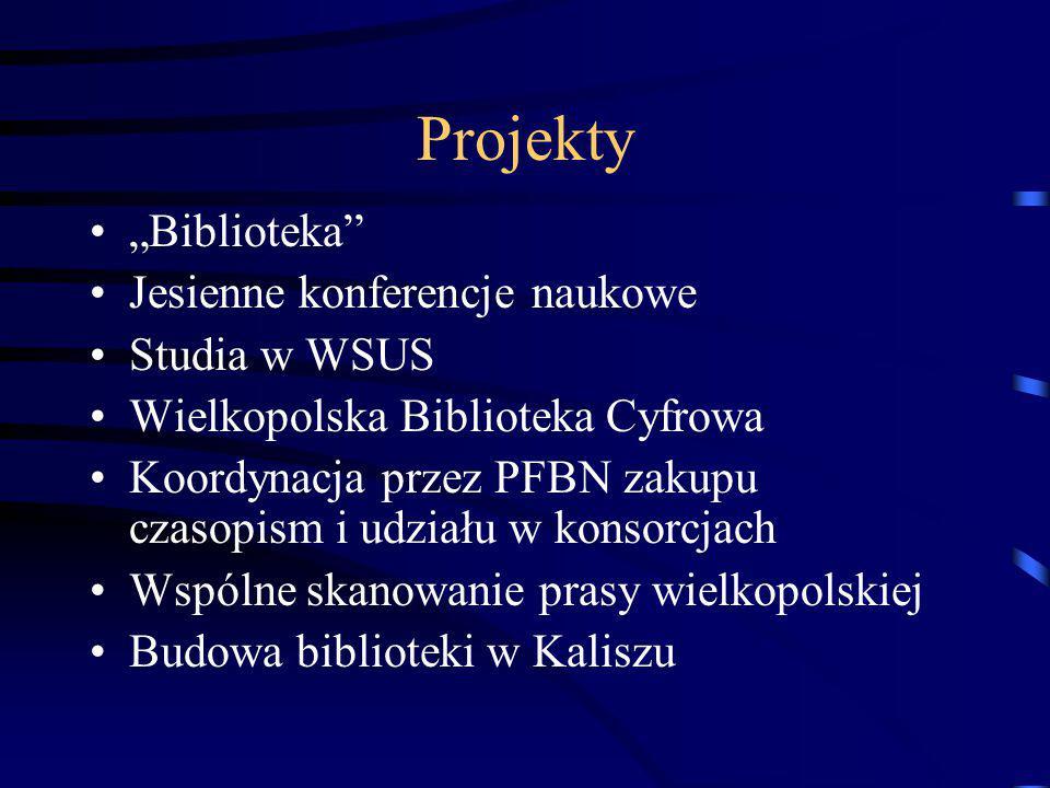 Integracja środowiska Obchody Dnia Bibliotekarza Kolegium Dyrektorów Bibliotek Miasta Narady zespołów problemowych Wspólne szkolenia Nagroda naukowa i