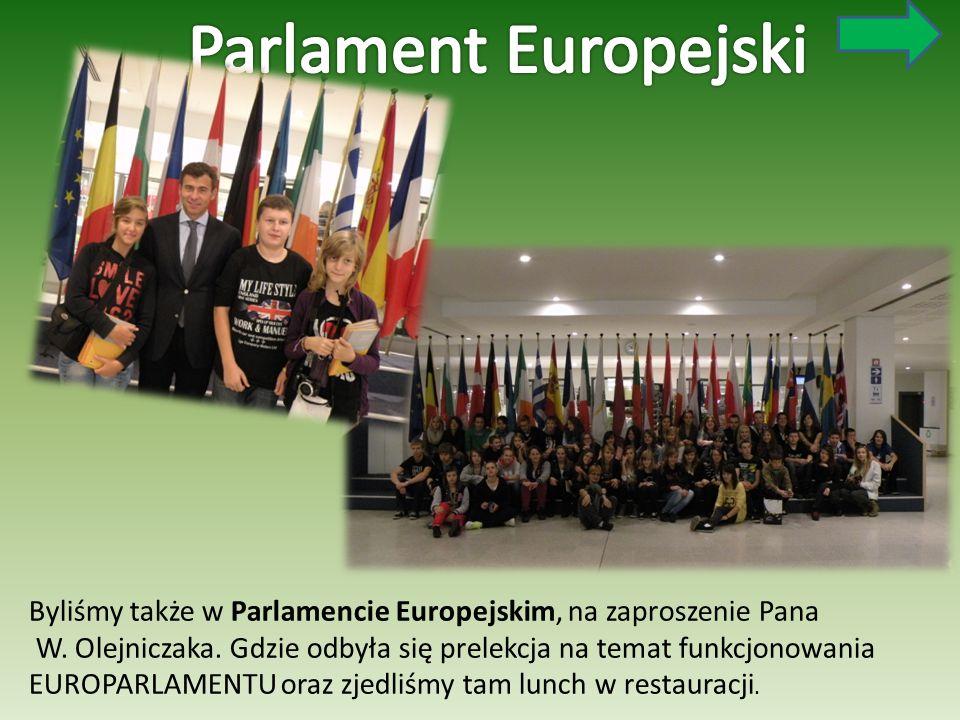 Byliśmy także w Parlamencie Europejskim, na zaproszenie Pana W. Olejniczaka. Gdzie odbyła się prelekcja na temat funkcjonowania EUROPARLAMENTU oraz zj