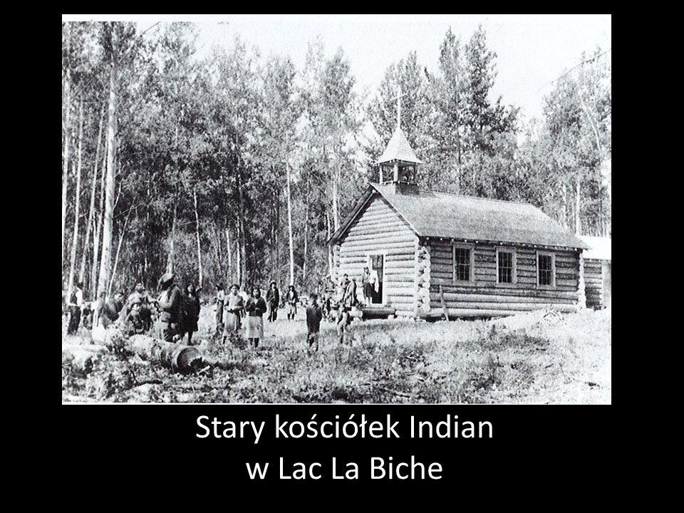 Stary kościółek Indian w Lac La Biche