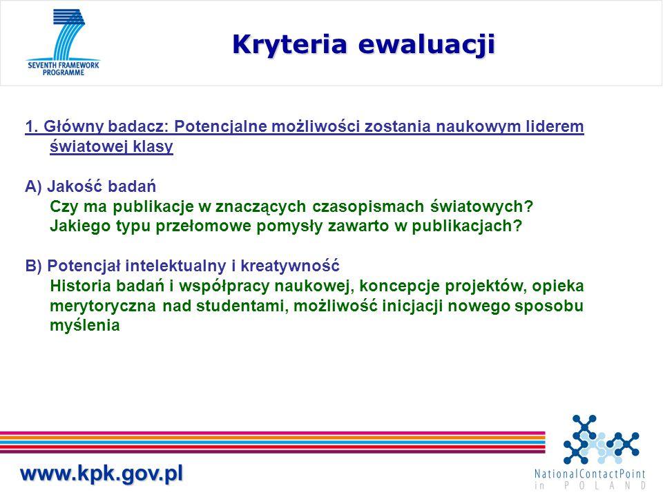 www.kpk.gov.pl Kryteria ewaluacji 1.