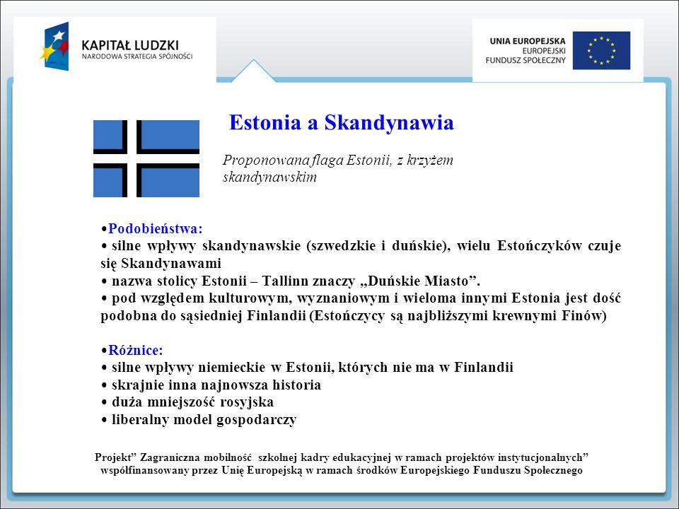 Projekt Zagraniczna mobilność szkolnej kadry edukacyjnej w ramach projektów instytucjonalnych współfinansowany przez Unię Europejską w ramach środków Europejskiego Funduszu Społecznego Flaga Estonii Estonia w czasie zimy