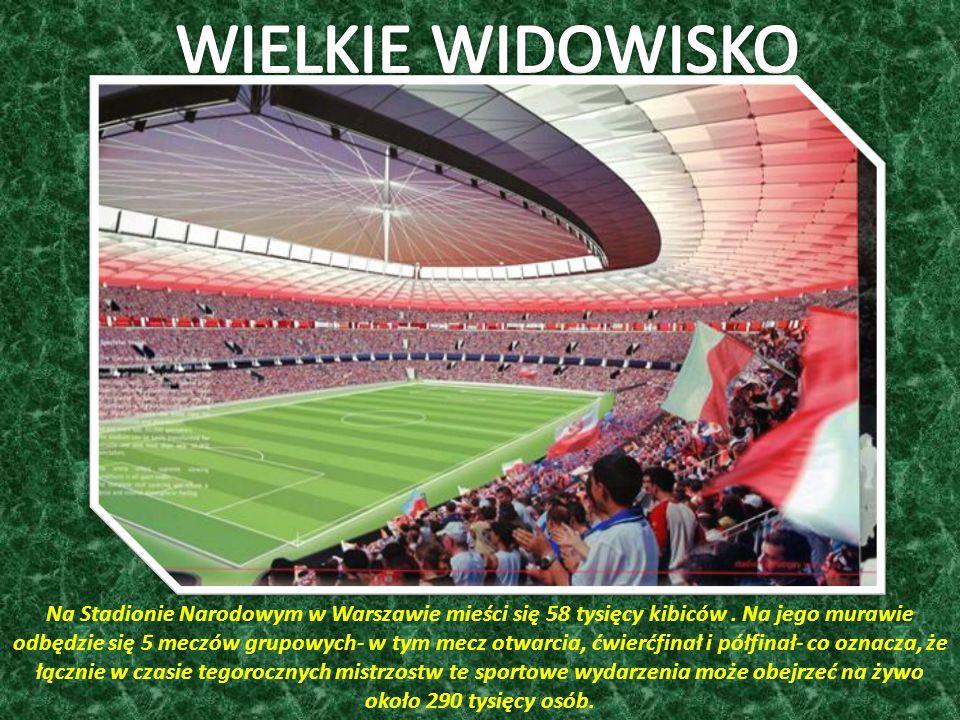 Na Stadionie Narodowym w Warszawie mieści się 58 tysięcy kibiców.