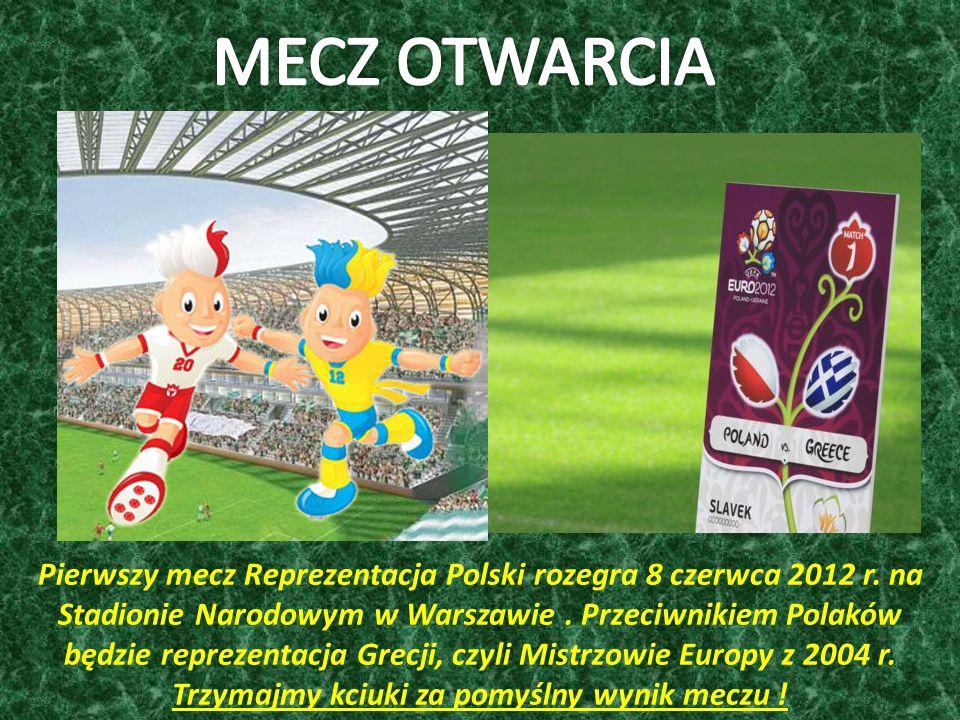 Pierwszy mecz Reprezentacja Polski rozegra 8 czerwca 2012 r.