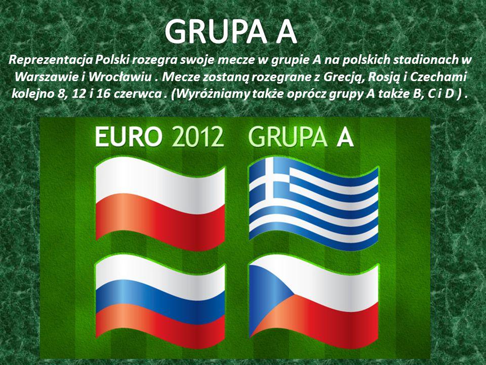 Reprezentacja Polski rozegra swoje mecze w grupie A na polskich stadionach w Warszawie i Wrocławiu.