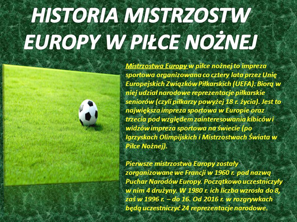 Mistrzostwa Europy w piłce nożnej to impreza sportowa organizowana co cztery lata przez Unię Europejskich Związków Piłkarskich (UEFA).