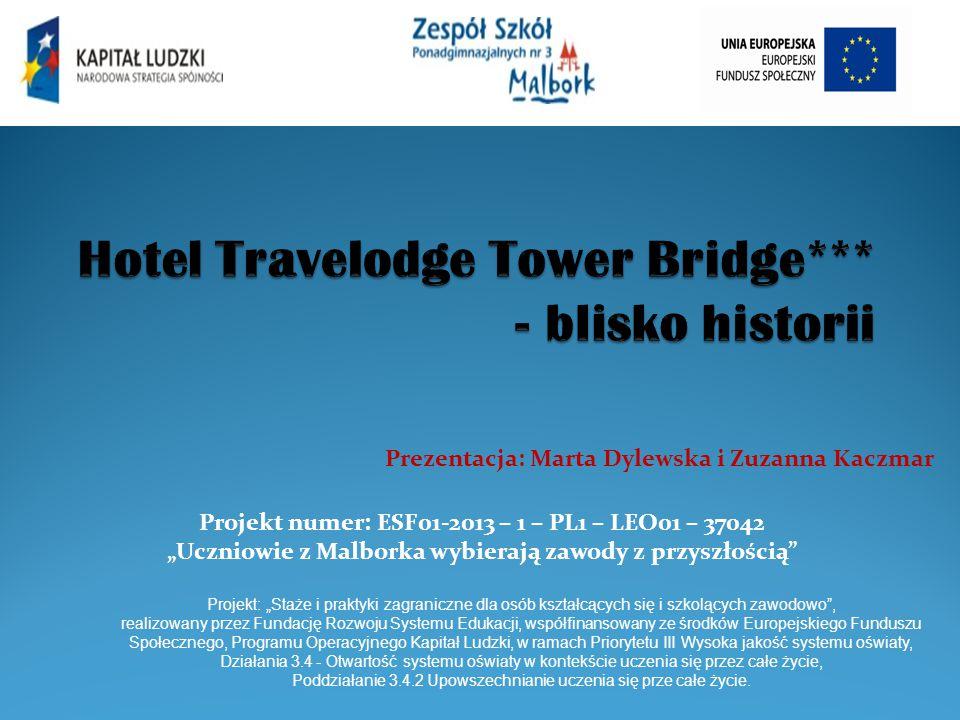 """Projekt numer: ESF01-2013 – 1 – PL1 – LEO01 – 37042 """"Uczniowie z Malborka wybierają zawody z przyszłością"""" Projekt: """"Staże i praktyki zagraniczne dla"""
