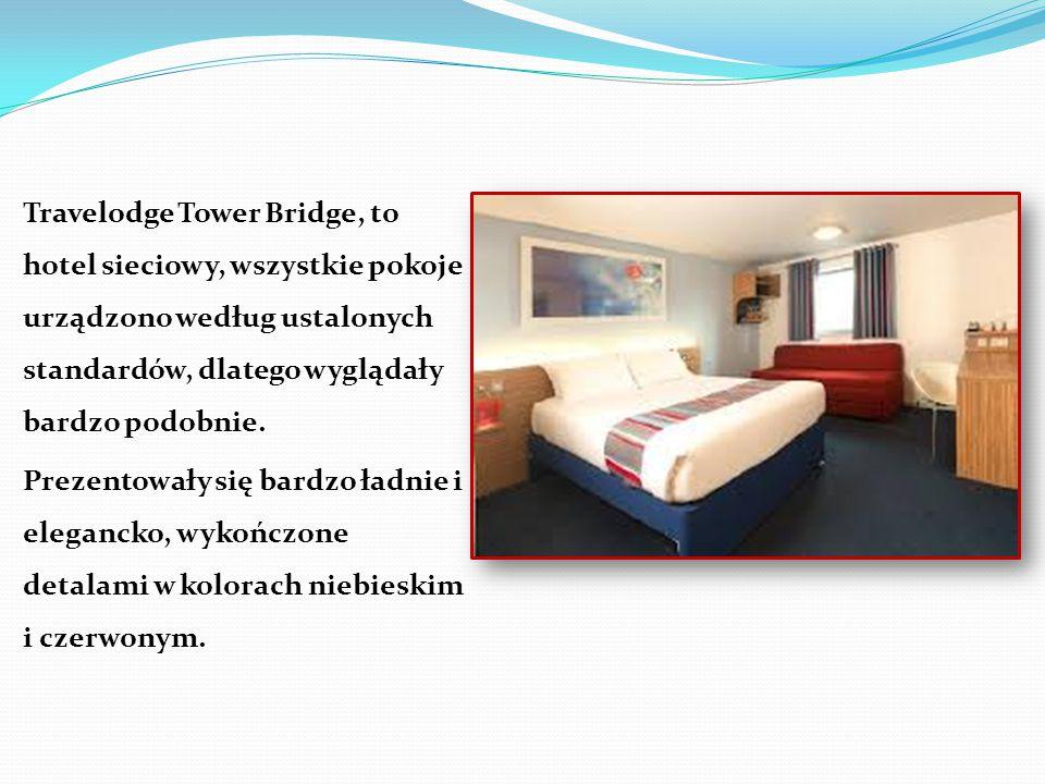 Travelodge Tower Bridge, to hotel sieciowy, wszystkie pokoje urządzono według ustalonych standardów, dlatego wyglądały bardzo podobnie. Prezentowały s