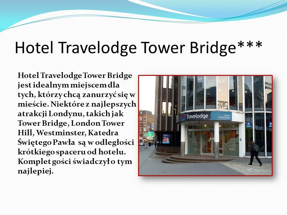 Hotel Travelodge Tower Bridge*** Hotel Travelodge Tower Bridge jest idealnym miejscem dla tych, którzy chcą zanurzyć się w mieście. Niektóre z najleps