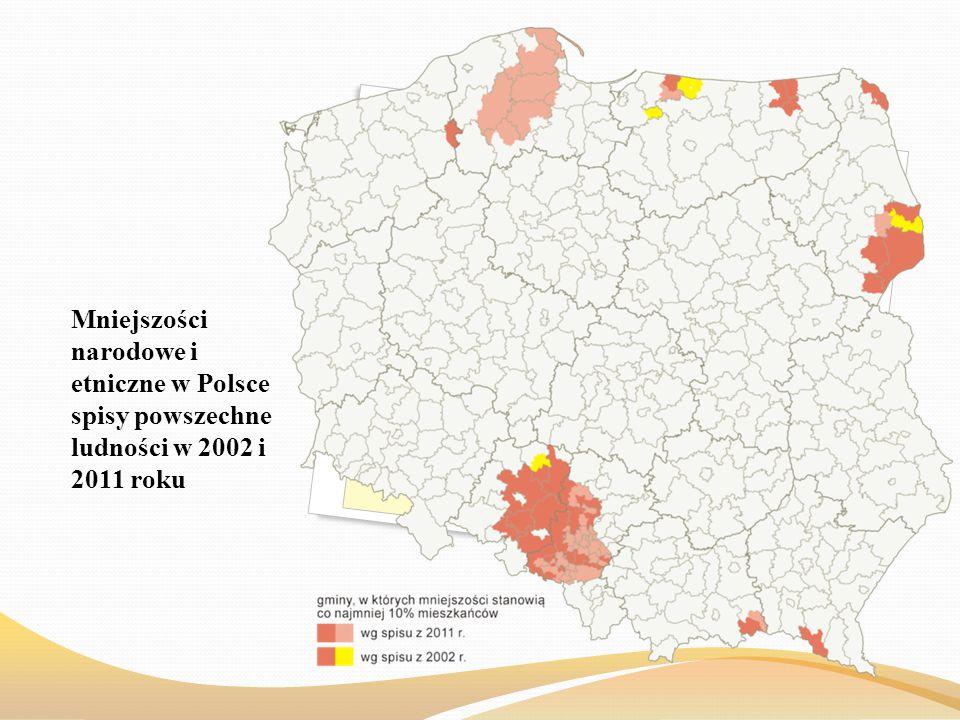 Mniejszości narodowe i etniczne w Polsce spisy powszechne ludności w 2002 i 2011 roku