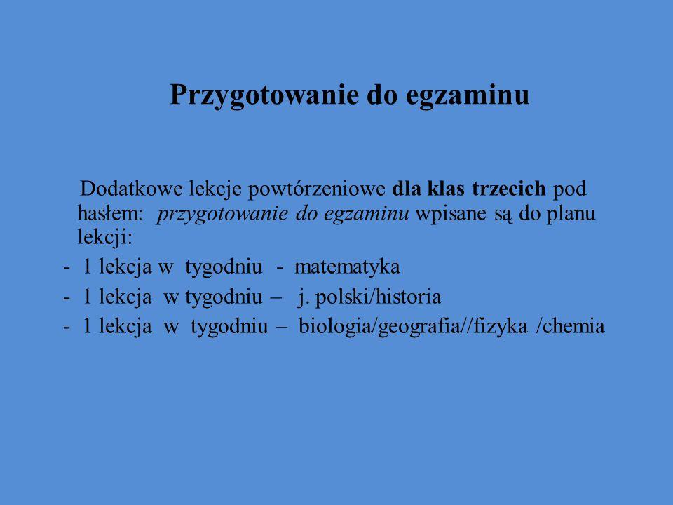Edukacyjna wartość dodana Polski system egzaminacyjny dostarcza danych do wyliczania EWD dla gimnazjów (sprawdzian w klasie VI szkoły podstawowej jako miara na wejściu, egzamin gimnazjalny jako miara na wyjściu) oraz szkół maturalnych (egzamin gimnazjalny jako miara na wejściu, egzamin maturalny jako miara na wyjściu).