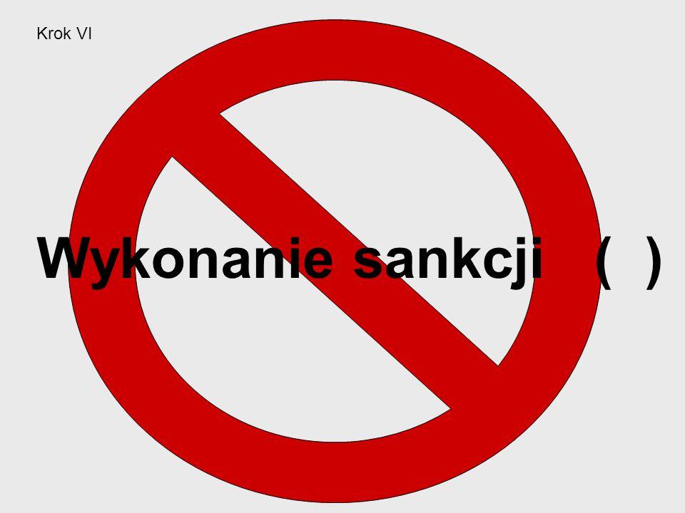 Krok VI Wykonanie sankcji ( )