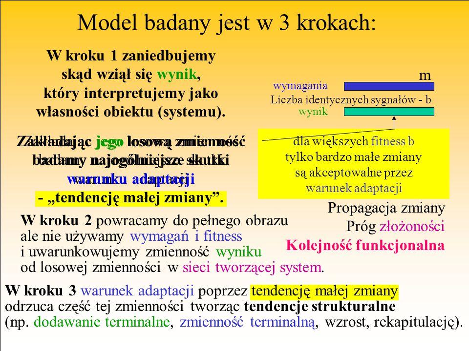 funkcjonująca sieć złożona środowisko Model badany jest w 3 krokach: W kroku 1 zaniedbujemy skąd wziął się wynik, który interpretujemy jako własności