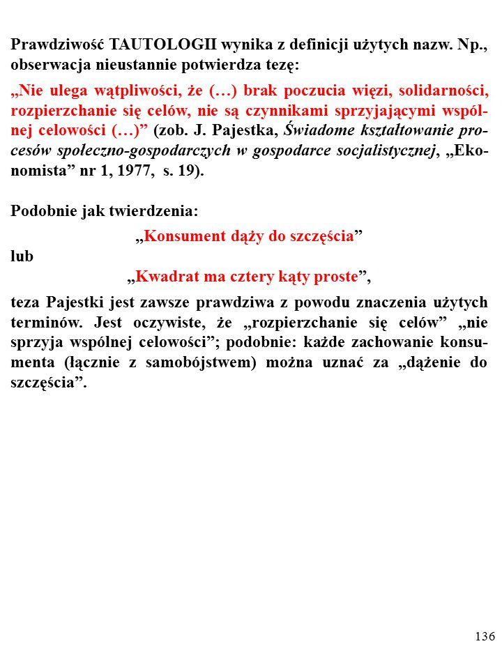 135 NIEOBALALNOŚĆ oznacza, że wypowiedzi nie da się zaprzeczyć z powodu cech języka, w którym ją wypowiedziano.