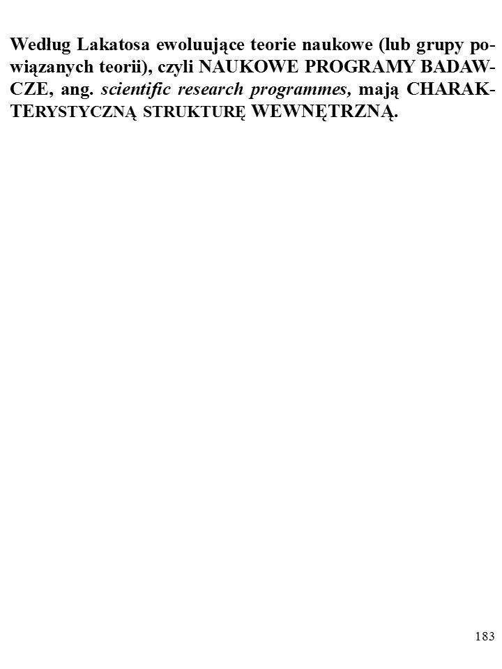 182 DYGRESJA Poglądy Lakatosa na rozwój nauki przypominają poglądy Thomasa Kuhna (1922–1996).