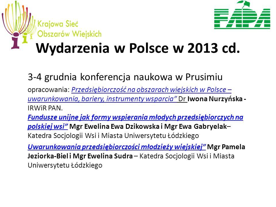 Wydarzenia w Polsce w 2013 cd.