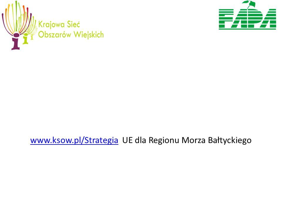 www.ksow.pl/Strategiawww.ksow.pl/Strategia UE dla Regionu Morza Bałtyckiego
