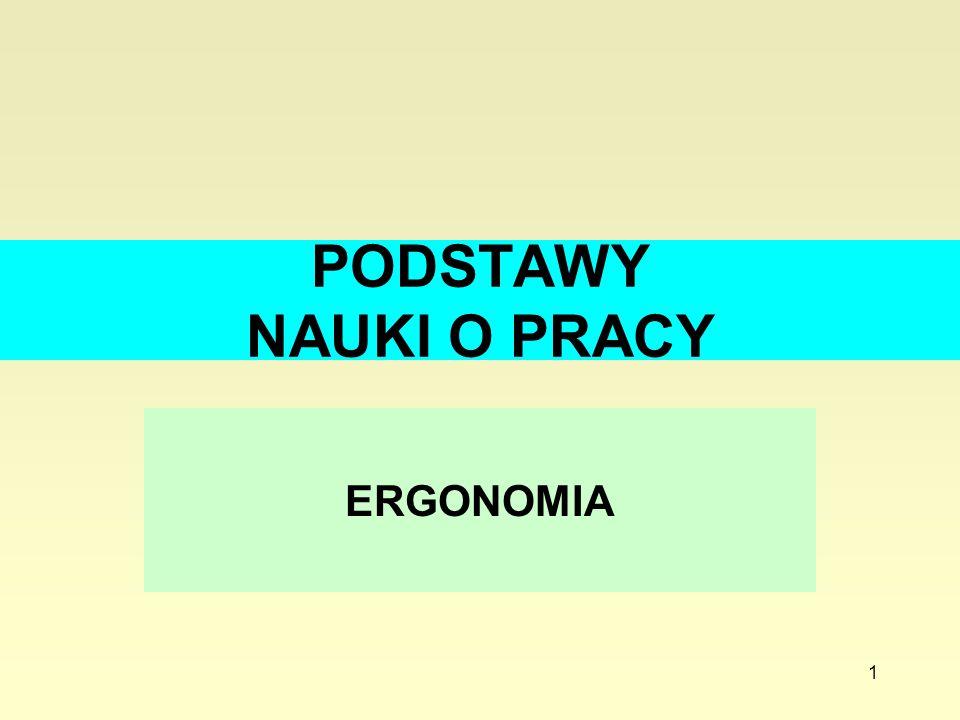 1 PODSTAWY NAUKI O PRACY ERGONOMIA