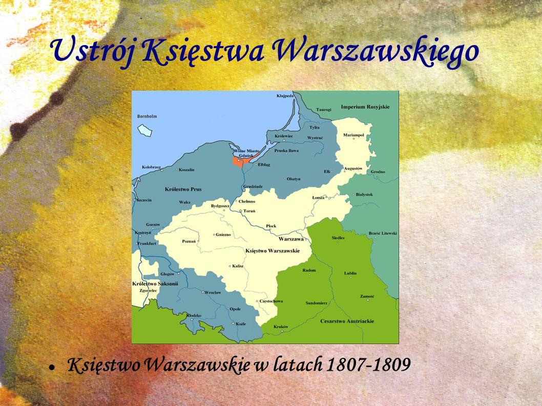 Ustrój Księstwa Warszawskiego Księstwo Warszawskie w latach 1807-1809