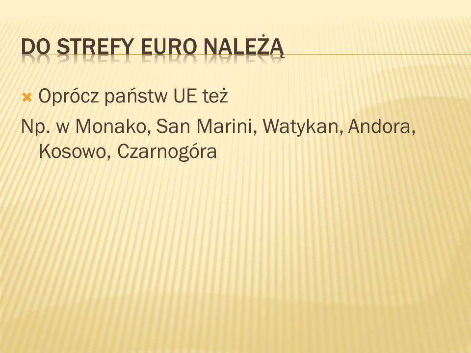  Oprócz państw UE też Np. w Monako, San Marini, Watykan, Andora, Kosowo, Czarnogóra