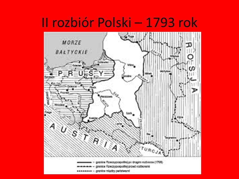 II rozbiór Polski – 1793 rok